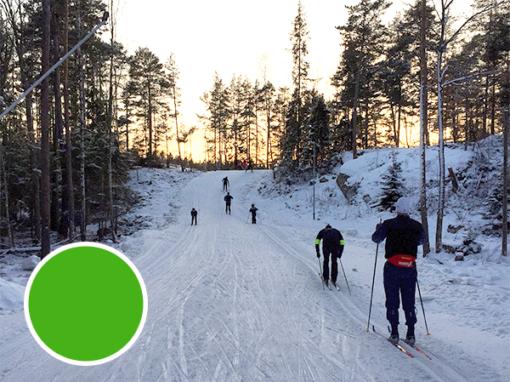 Teknikkurs längdskidor, grön nivå