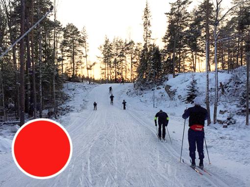 Teknikkurs längdskidor, röd nivå